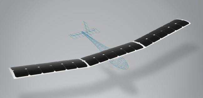 Solar-powered UAV wing featuring the first proprietary structural solar cell encapsulation technology.
