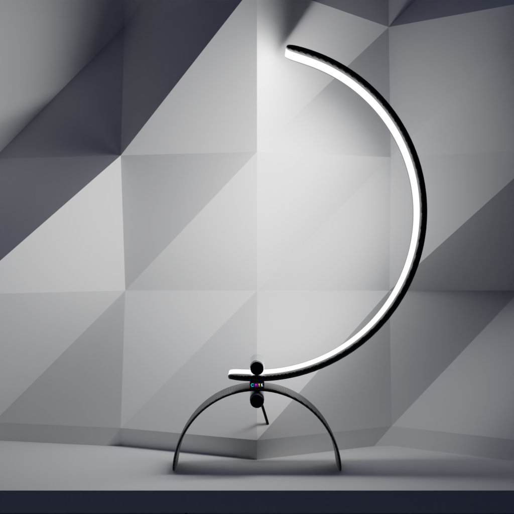 """Carbon fibre composites enable ultra-thin minimalist """"floating in air"""" lamp for modern interiors."""
